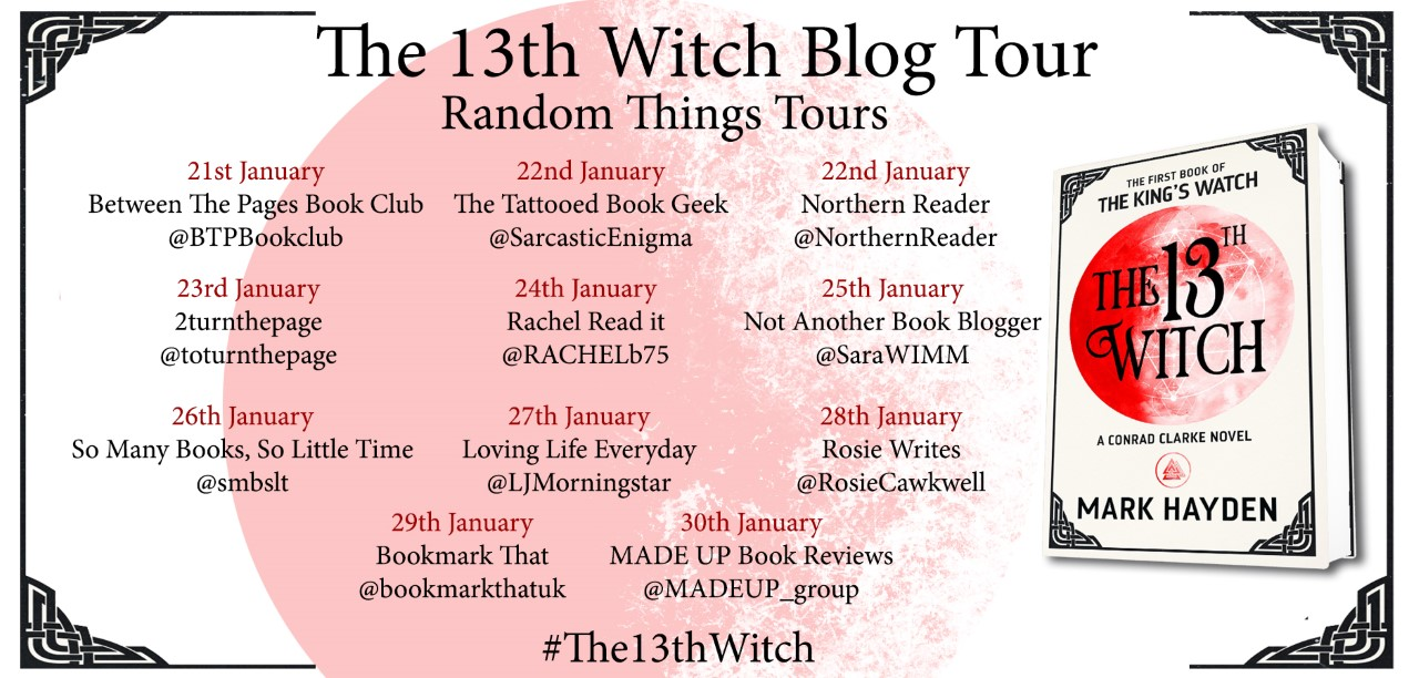 Blog Tour-'The 13th Witch' by Mark Hayden - Book Reviews and Tours