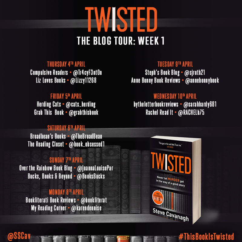 BlogTour-'Twisted' by Steve Cavanagh - Book Reviews and Tours by